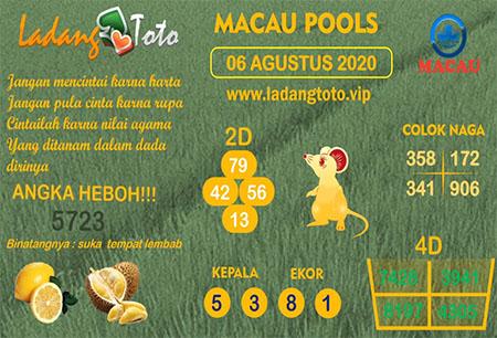 Prediksi Ladang Toto Macau Pools Kamis 06 Agustus 2020