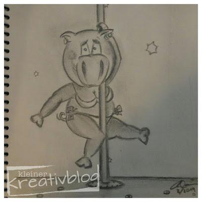 www.kleiner-kreativblog.de Sparschwein-Zeichnung