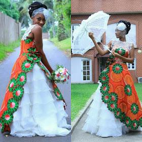 JESTINA GEORGE: STUNNING AFRICAN INSPIRED WEDDING DRESS.