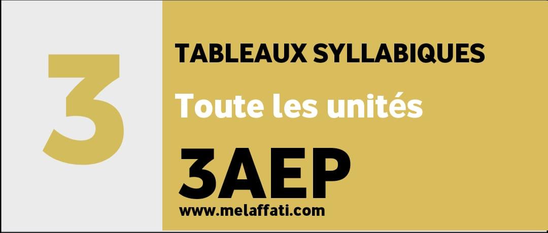 Tableau syllabiques جاهزة للطبع - بالفرنسية للمستوى الثالث