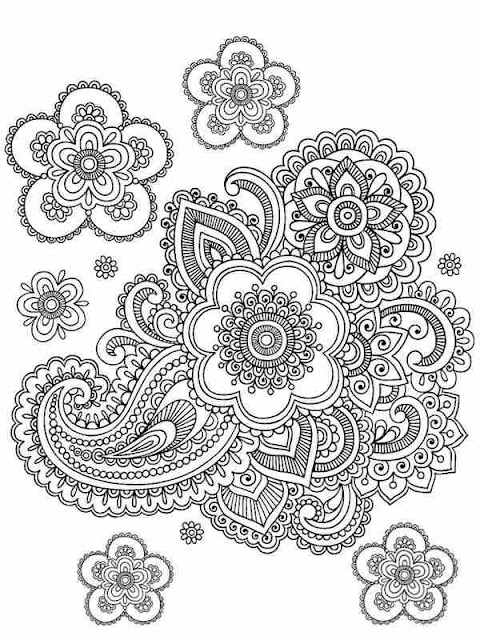 printable flower garden printable coloring pages for adult