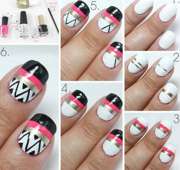 How to do nail art designs for short nails at home romantic love hand painted fashion nail art designs 2016 1 prinsesfo Images