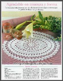 carpetas y tapetes ganchillo para tejer con patrones en español