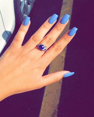 Nails blue coffin