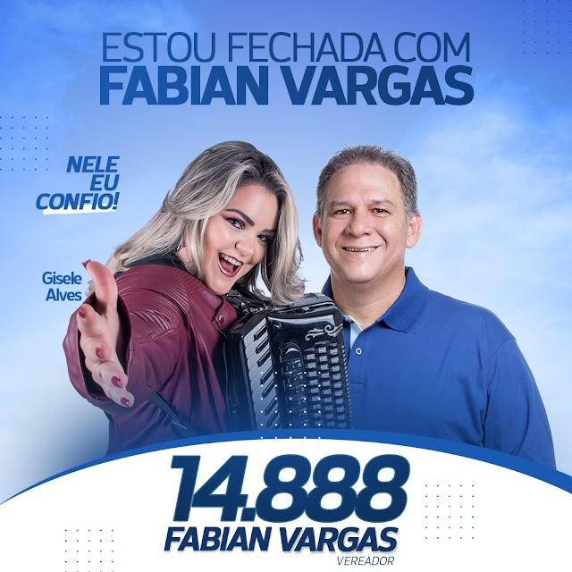CANDIDATURA DE FABIAN VARGAS RECEBE APOIO DE GISELE ALVES