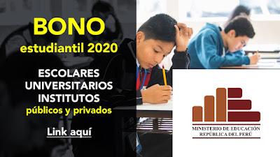 BONO ESTUDIANTIL conoce requisitos de los beneficiarios del crédito estudiantil del MINEDU