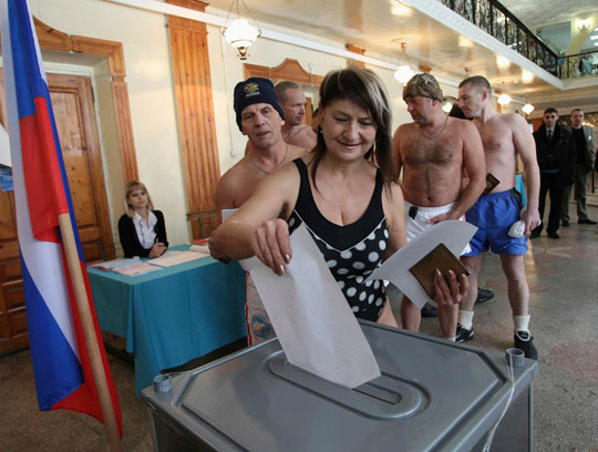 voting in russia