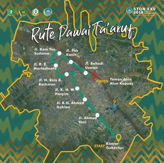 Route of Taaruf Parade STQ Kalbar