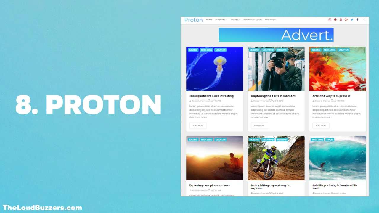 Proton Blogger Template