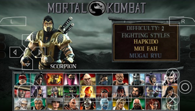 Download Mortal kombat Unchained PPSSPP CSO