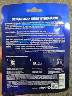 Masker Garnier Serum Night