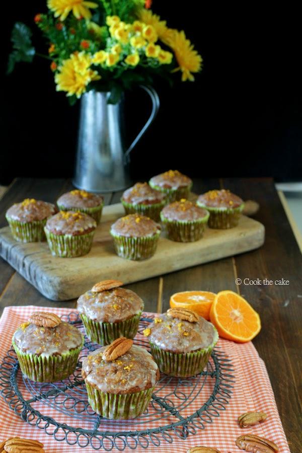 muffins zanahoria, muffins mandarina, carrot muffins