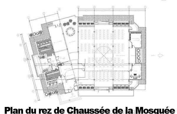 Plan d'une Mosquée : fichier autocad dwg à télécharger - قسم