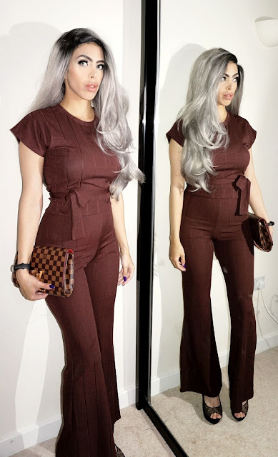 the Brown Ribbed Belted Co-Ord - Alannah which is also part of the Femme Luxe newly released collection.