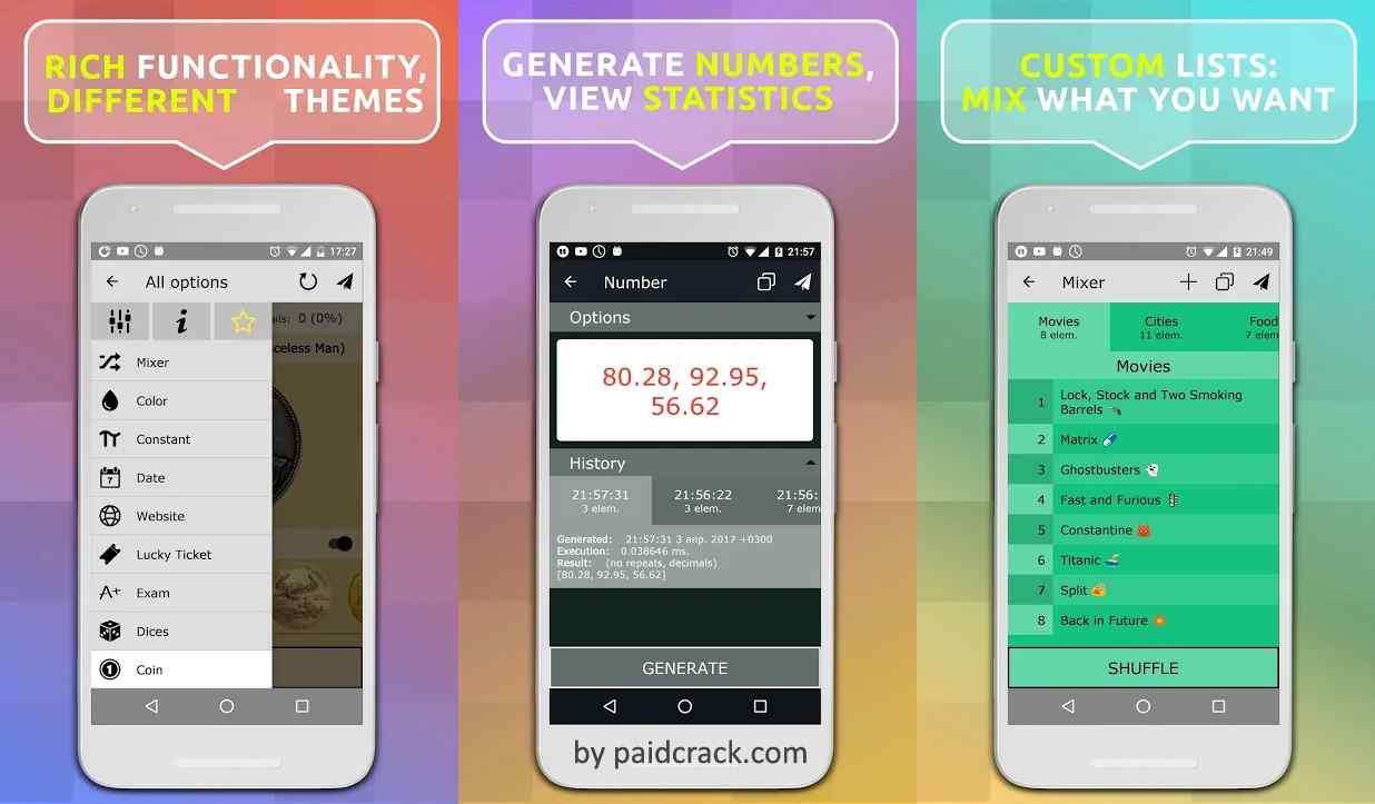 Random Generator Premium Mod Apk 2.0.1