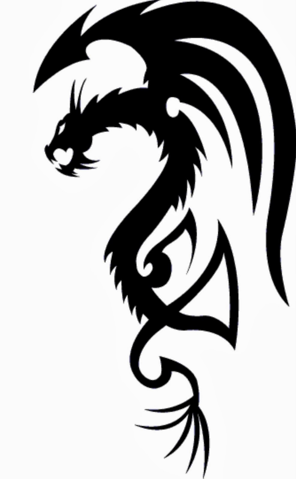 Simple Dragon Pictures - Cliparts.co  Tribal Art Dragon Simple