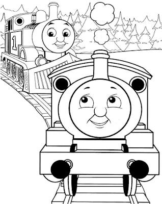 Gambar Mewarnai Thomas and Friends - 1