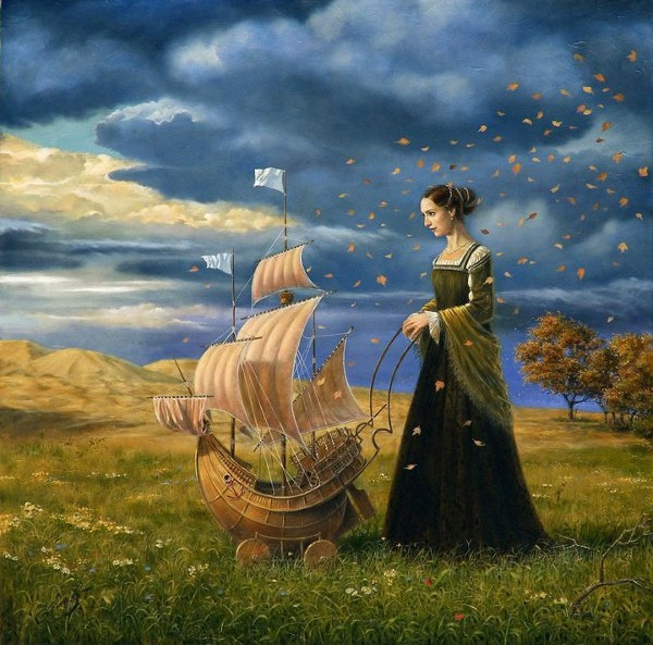 02-on-the-way-of-destiny-Michael-Cheval-Surreal-Paintings-that-Draw-inspiration-from-The-East-and-West-www-designstack-co