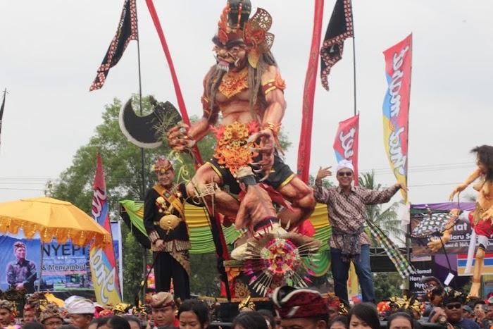 Meriah nya Fastival Ogoh-ogoh Terbesar Di Lampung.