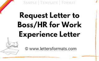 letter requesting for work experience certificate