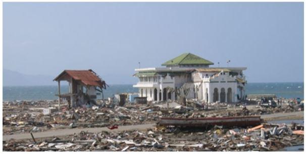 Masjid Baiturrahim korban tsunami aceh di Ulee Lheu Kecamatan Meuraxa Kota Banda Aceh