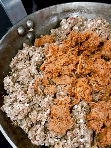 Relleno de carne para canelones