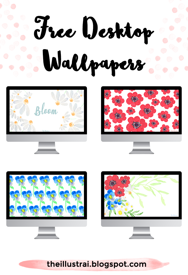 Download these floral wallpapers in a patriotic color scheme of red, white, & blue for the fourth of July. They are the perfect way to decorate your desktop in honor of Independence Day!