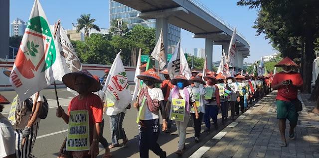 Keadilan Belum Didapat, Ratusan Petani Simalingkar Dan Sei Mencirim Kembali Geruduk Istana Negara
