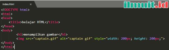 Menambahkan Gambar Animasi Pada HTML