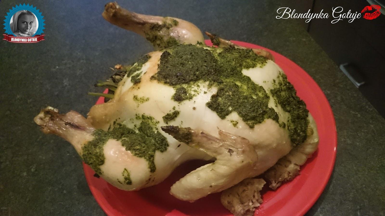 Pieczony Kurczak Z Maslem Ziolowym Blondynka Gotuje