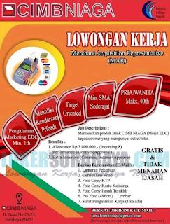 Lowongan Kerja di CIMBNIAGA Surabaya Terbaru April 2019