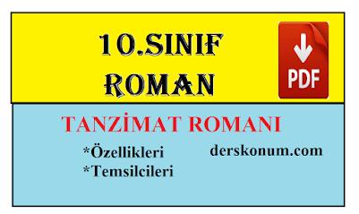 10.Sınıf Roman Ünitesi Tanzimat Dönemi Romanı