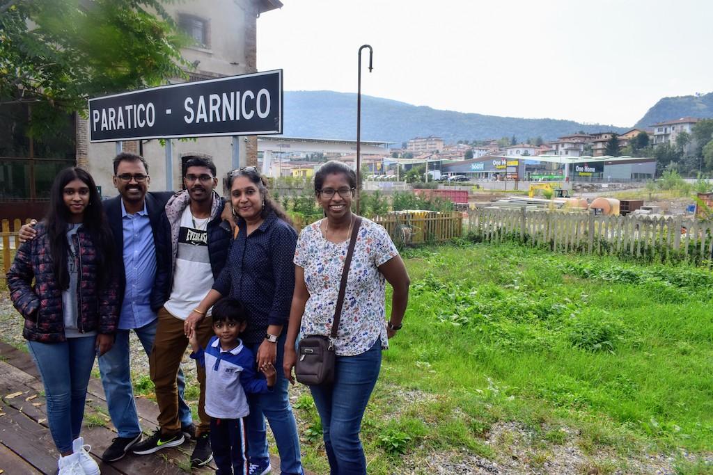 Paratico Sarnico station in Historic train