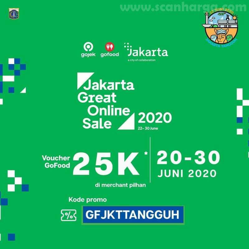 Gojek Gofood Promo Jakarta Great Online Sale 2020 dan Diskon HUT Jakarta Ke-493
