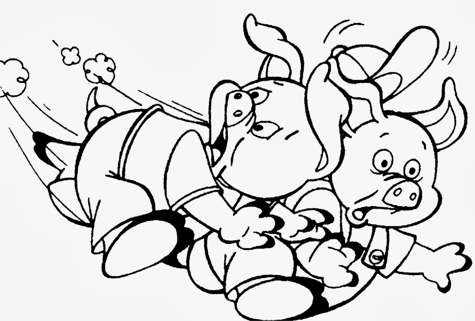 Desenhos : Desenhos Os Três Porquinhos Para Pintar
