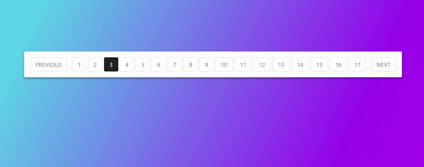 Create the numbers in the pagination