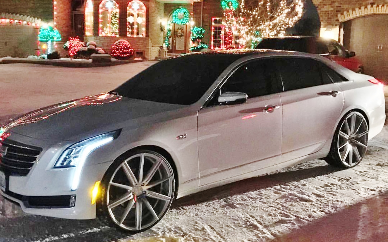 White 2016 Cadillac Ct6 On 24 S Bd Wheels