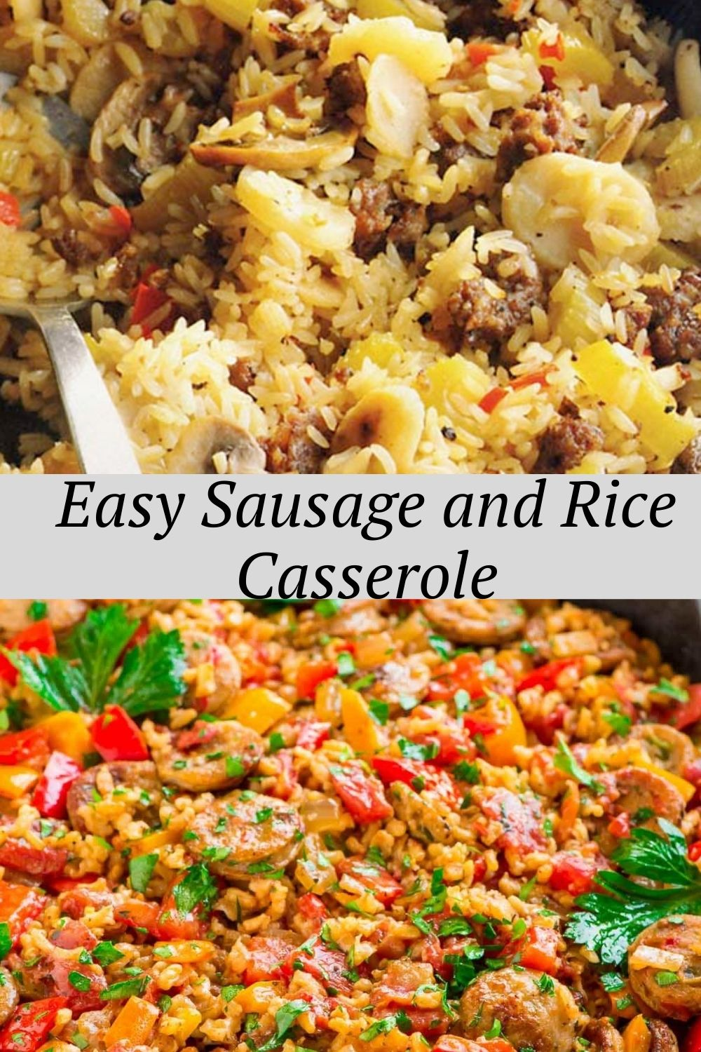 Easy Sausage and Rice Casserole