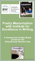 Poetry Memorization with IEW - A Schoolhouse Crew Review of Linguistic Development through Poetry Memorization on Homeschool Coffee Break @ kympossibleblog.blogspot.com