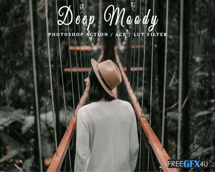 Creativemarket - 10 Ps Actions ACR LUT Deep Moody