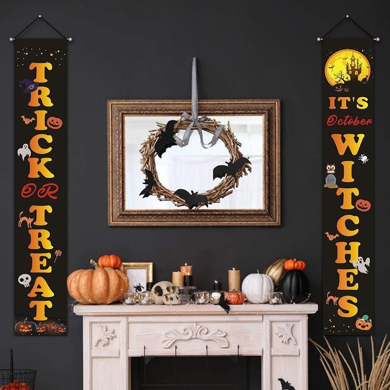 50% OFF  Halloween Porch Decoration Banner