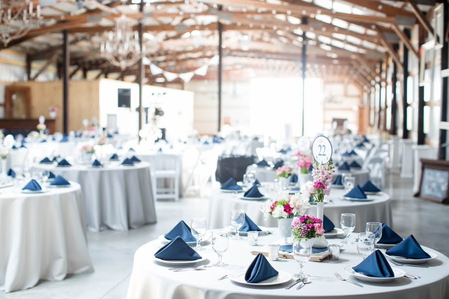 Rustic Pink and Navy Barn Wedding