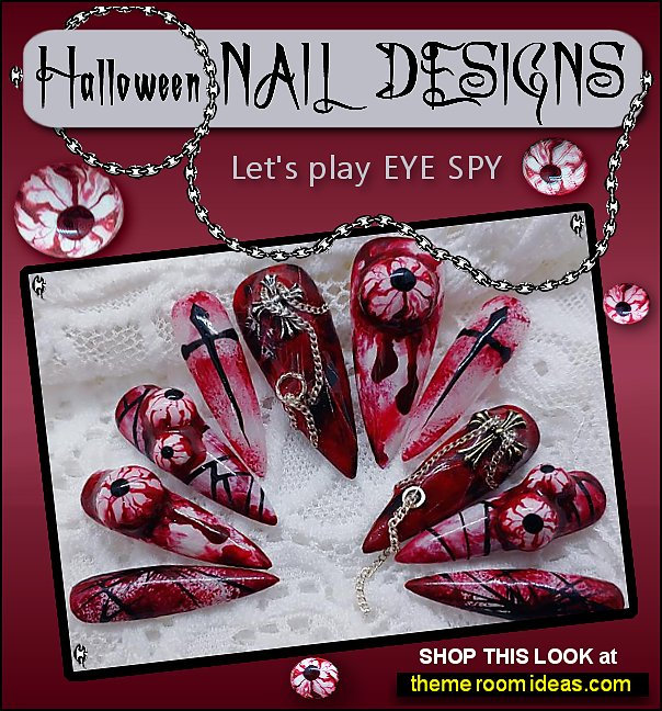 Halloween Nail At Halloween False Nails Blood stain False Nails Halloween Nails