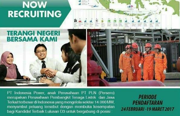 Lowongan Kerja PT Indonesia Power Tahun 2017