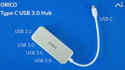 รีวิว Orico Type C USB 3.0 Hub ราคาไม่ถึง 1,000 บาท คล่องตัวด้วย USB 3.0 4ช่อง