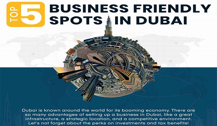 Business Friendly Spots Of Dubai #infographic
