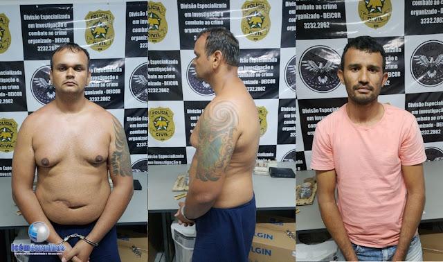 Deicor deflagra operação e prende assaltantes de banco foragidos da justiça; um dos presos é caraubense