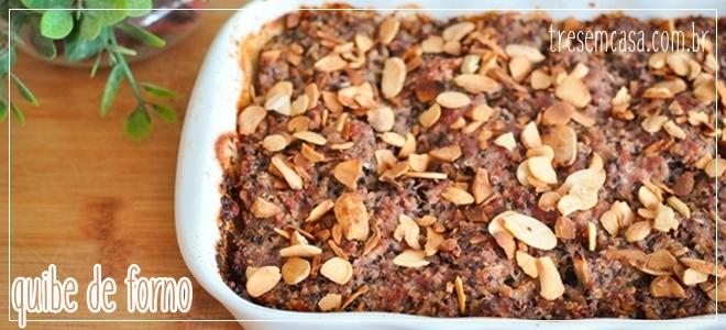quibe de forno com quinoa