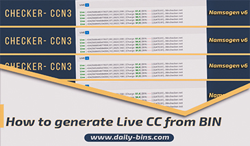 How to generate Live CC from BIN