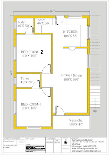 double bedroom home plan